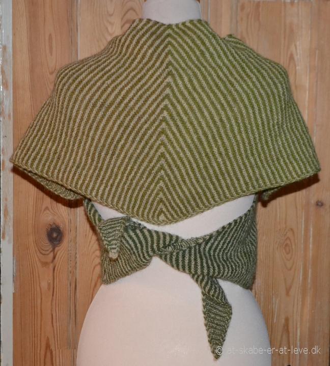 Sjal med kiler - bindesjal bag