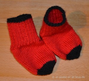 Sokkerne før broderingen