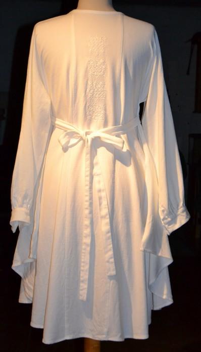 hvid kjole bag