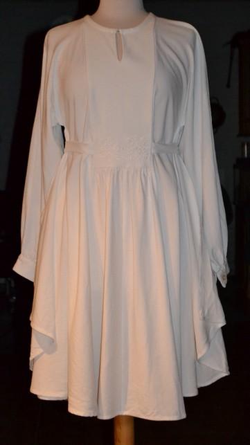 hvid kjole for