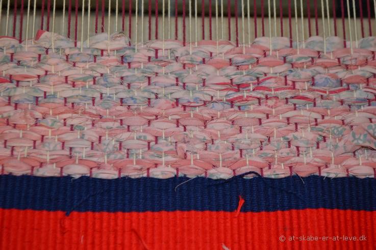 kludetæppe - spidskipper vandret