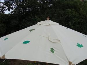 Parasollen ovenfra