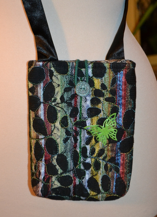 taske med blomstertyl