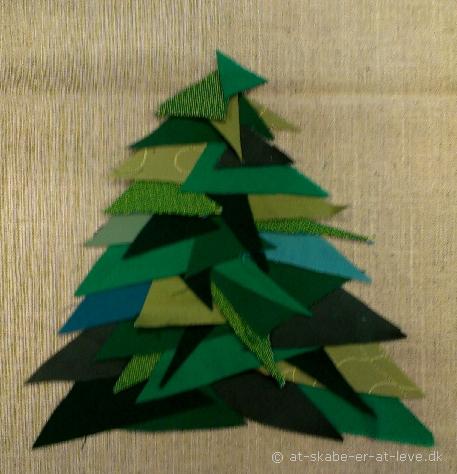 trekantet juletræ - lagt op